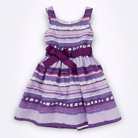RJR.John Rocha - Designer girl+s purple blurred stripe dress