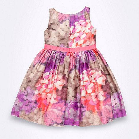 RJR.John Rocha - Designer girl+s purple floral dress