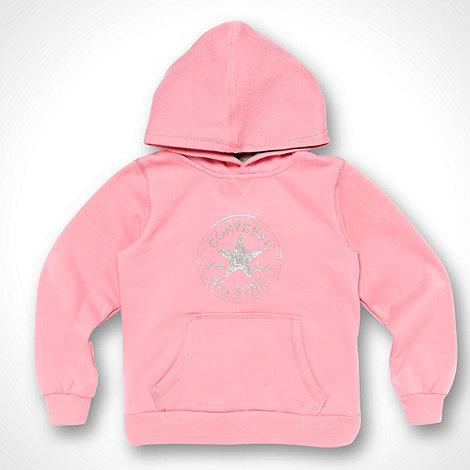 Converse - Girl+s pink hoodie