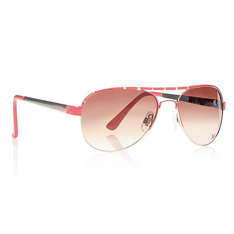 Butterfly by Matthew Williamson - Designer girl's pink aviator sunglasses