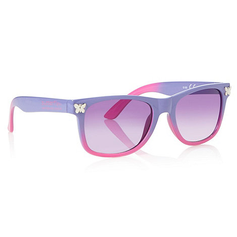 Butterfly by Matthew Williamson - Designer girl's purple two tone butterfly sunglasses