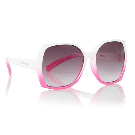 Pineapple - girls+ pink graduating square sunglasses