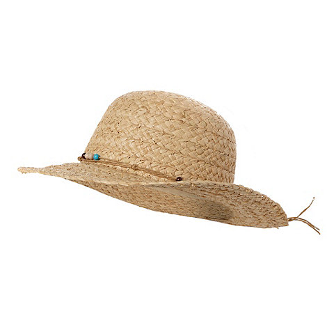 bluezoo - Girl+s natural floppy straw hat