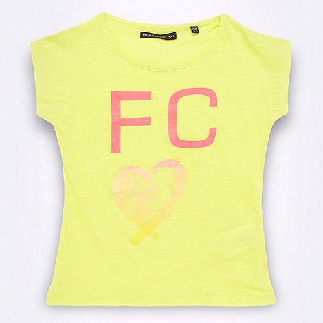 French connection - Girl+s yellow heart logo motif t-shirt