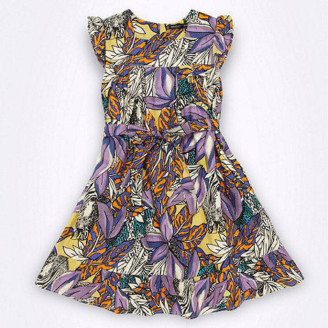 French connection - Girl+s grey sketched floral dress