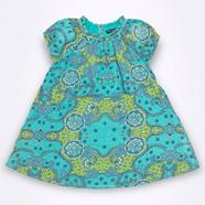 Girl's green paradise print dress