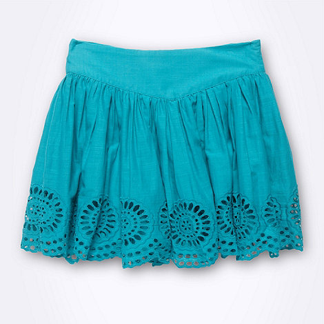 French connection - Girl+s green broderie skirt