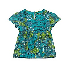 French Connection - Girl's green abstract floral top
