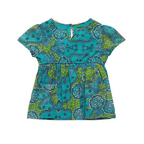 French connection - Girl+s green abstract floral top