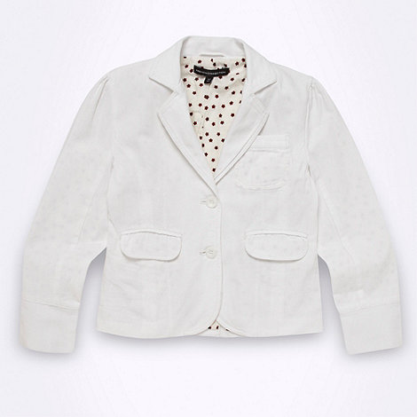 French connection - Girl+s white three pocket twill blazer