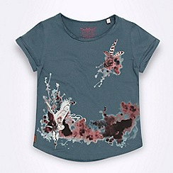 Firetrap - Girl's dark grey floral t-shirt