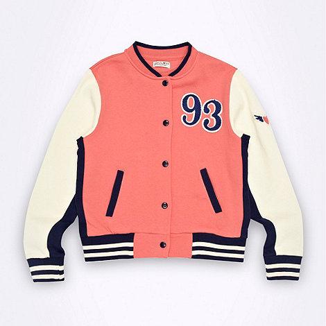 Firetrap - Girl+s red varsity jacket