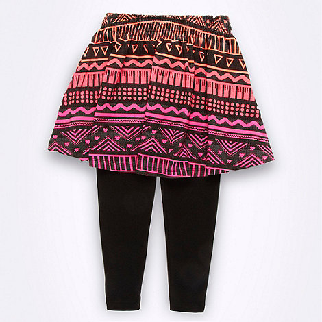 bluezoo - Girl's multi aztec skirt and leggings set