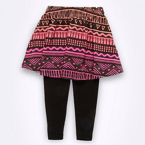 bluezoo - Girl+s multi aztec skirt and leggings set