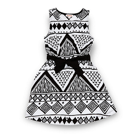 bluezoo - Girl+s black aztec dress