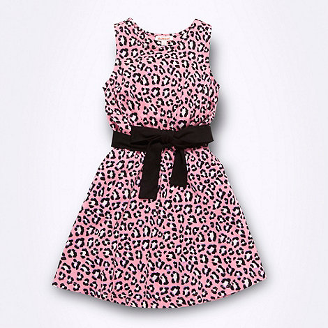 bluezoo - Girl+s pink animal print jersey dress