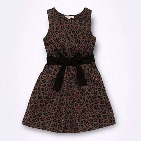 bluezoo - Girl+s grey animal printed jersey dress
