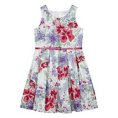 bluezoo - Girls' multi-coloured floral print prom dress