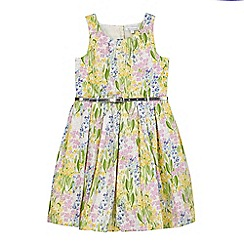 bluezoo - Girls' multi-coloured sleeveless floral print dress