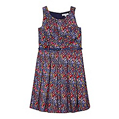 bluezoo - Girls' multi-coloured sleeveless floral prom dress