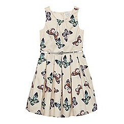 bluezoo - Girls' cream butterfly print prom dress