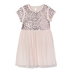 bluezoo - Girls' light pink sequinned embellished dress