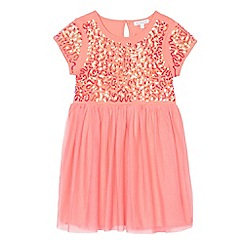 bluezoo - Girls' light orange sequinned dress
