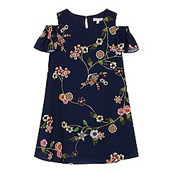 bluezoo - Girls' multi-coloured floral print trapeze dress