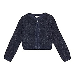 bluezoo - Girls' navy glittery cardigan