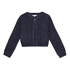 bluezoo - Girls' navy glittery cardigan