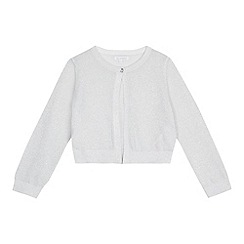 bluezoo - Girls' silver glittery cardigan