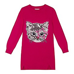 bluezoo - Girls' pink sequinned cat tunic