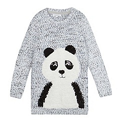 bluezoo - Girls' grey panda tunic