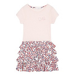 bluezoo - Girls' pink bow applique dress