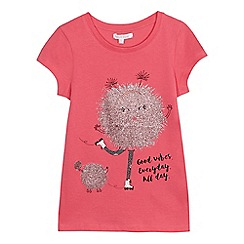bluezoo - Girls' pink glitter ball t-shirt