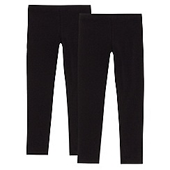 bluezoo - Pack of two girls' black leggings