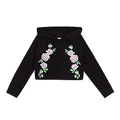 bluezoo - Girls' black cropped hoodie