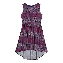 bluezoo - Girls' purple butterfly print dress