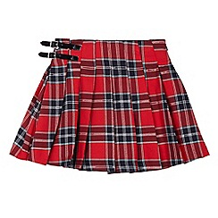 bluezoo - Girls' red tartan print skirt