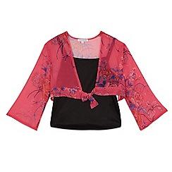 bluezoo - Girls' pink kimono top