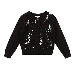 bluezoo - Girls' black sequinned cardigan