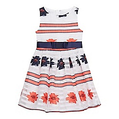 J by Jasper Conran - Girls' multi-coloured burnout embroidered floral dress