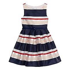 J by Jasper Conran - Girls' multi-coloured striped belted dress