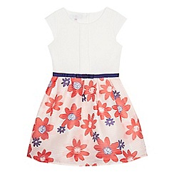 J by Jasper Conran - Girls' cream burn-out floral dress