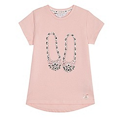 J by Jasper Conran - Girls' light pink gem embellished shoes t-shirt