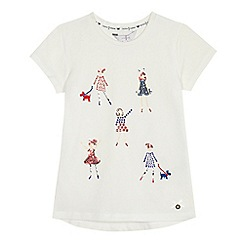 J by Jasper Conran - Girls' white embellished girls t-shirt