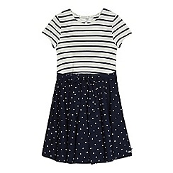 J by Jasper Conran - Girls' navy striped jersey dress