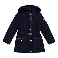 J by Jasper Conran - Girls' navy shower resistant quilted coat