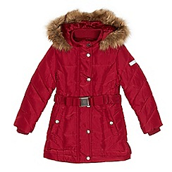 J by Jasper Conran - Girls' dark pink water repellent padded coat