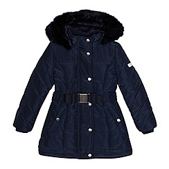 J by Jasper Conran - Girls' navy padded water repellent coat